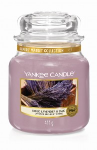 Yankee Candle DRIED LAVENDER & OAK (średni)